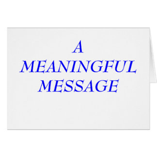 MEANINGFUL MESSAGE:  INCARCERATION 8A STATIONERY NOTE CARD