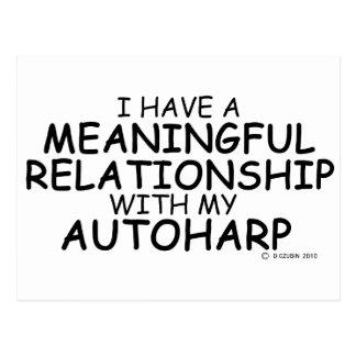 Meaningful Relationship Autoharp Postcard