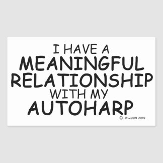 Meaningful Relationship Autoharp Rectangular Sticker