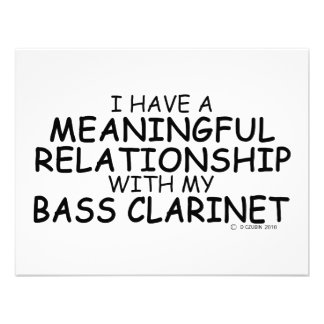 Meaningful Relationship Bass Clarinet Custom Announcement