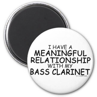 Meaningful Relationship Bass Clarinet 2 Inch Round Magnet