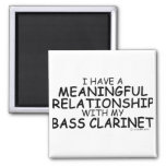 Meaningful Relationship Bass Clarinet Refrigerator Magnets