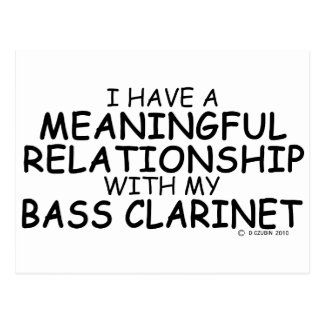 Meaningful Relationship Bass Clarinet Postcard