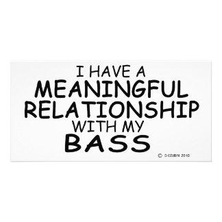 Meaningful Relationship Bass Custom Photo Card