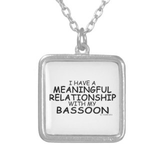 Meaningful Relationship Bassoon Square Pendant Necklace