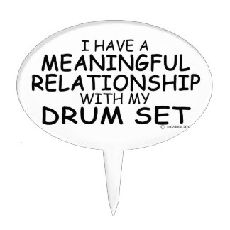 Meaningful Relationship Drum Set Cake Topper