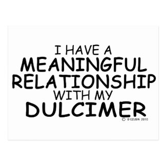 Meaningful Relationship Dulcimer Postcard