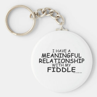 Meaningful Relationship Fiddle Keychain