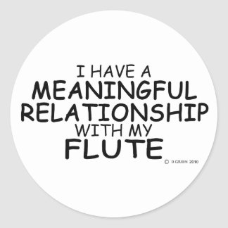 Meaningful Relationship Flute Classic Round Sticker