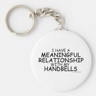 Meaningful Relationship Handbells Basic Round Button Keychain