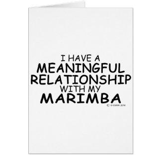 Meaningful Relationship Marimba Card