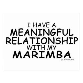 Meaningful Relationship Marimba Postcard