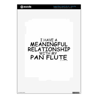 Meaningful Relationship Pan Flute Skin For iPad 3