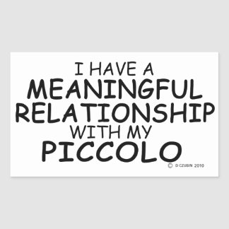 Meaningful Relationship Piccolo Rectangular Sticker