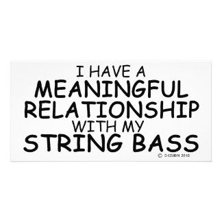 Meaningful Relationship String Bass Personalized Photo Card