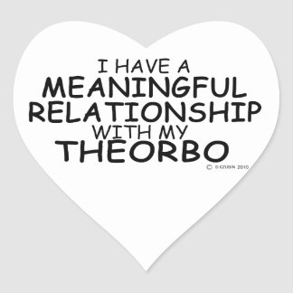 Meaningful Relationship Theorbo Heart Sticker