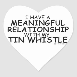 Meaningful Relationship Tin Whistle Heart Sticker