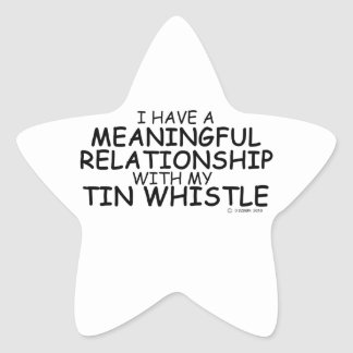 Meaningful Relationship Tin Whistle Star Sticker