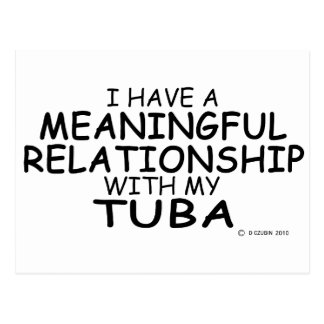 Meaningful Relationship Tuba Postcard