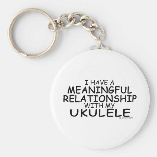 Meaningful Relationship Ukulele Basic Round Button Keychain