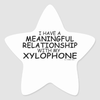 Meaningful Relationship Xylophone Star Sticker