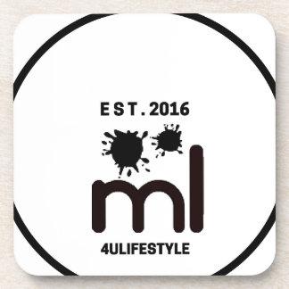 MeaningfulLiving Brand circle logo Coaster