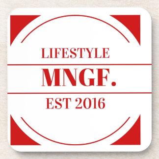 MeaningfulLiving Brand red brand logo Beverage Coaster