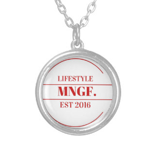 MeaningfulLiving Brand red brand logo Round Pendant Necklace