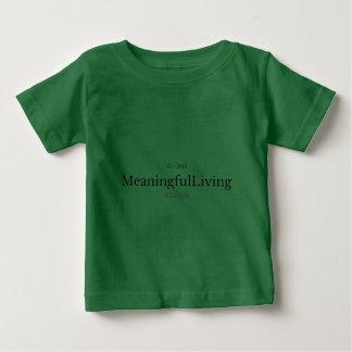 MeaningfulLiving Brand red sentence logo Baby T-Shirt