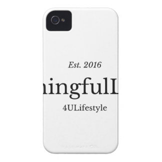 MeaningfulLiving Brand red sentence logo iPhone 4 Case-Mate Case