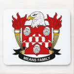 Means Family Crest Mouse Pad