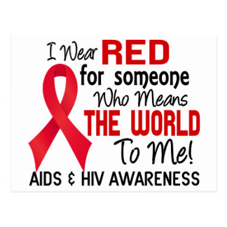 Means The World To Me 2 AIDS Postcard