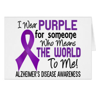 Means The World To Me 2 Alzheimer's Disease Greeting Card