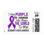 Means The World To Me 2 Alzheimer's Disease Postage Stamp