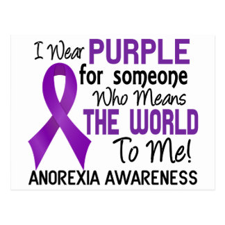 Means The World To Me 2 Anorexia Postcard