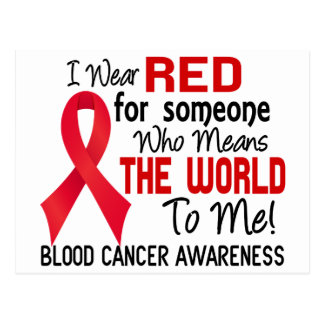 Means The World To Me 2 Blood Cancer Postcard