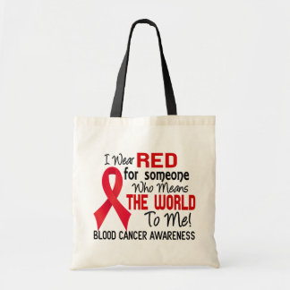 Means The World To Me 2 Blood Cancer Tote Bag