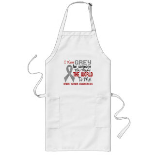Means The World To Me 2 Brain Tumor Long Apron