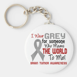 Means The World To Me 2 Brain Tumor Keychain