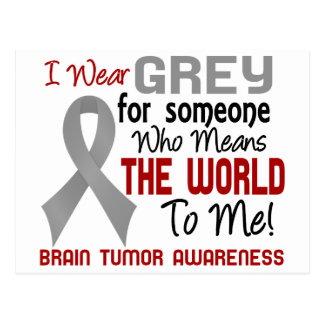 Means The World To Me 2 Brain Tumor Postcard