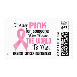 Means The World To Me 2 Breast Cancer Postage Stamps