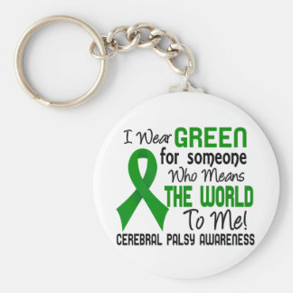 Means The World To Me 2 Cerebral Palsy Basic Round Button Keychain