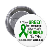 Means The World To Me 2 Cerebral Palsy Pinback Button