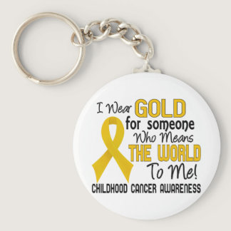 Means The World To Me 2 Childhood Cancer Keychain