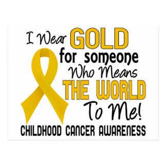 Means The World To Me 2 Childhood Cancer Postcard