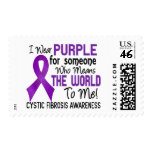 Means The World To Me 2 Cystic Fibrosis Postage Stamps