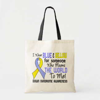 Means The World To Me 2 Down Syndrome Budget Tote Bag