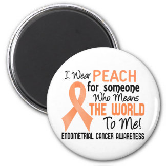 Means The World To Me 2 Endometrial Cancer 2 Inch Round Magnet