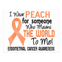 Means The World To Me 2 Endometrial Cancer Postcard