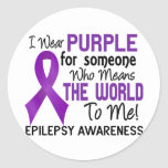 Means The World To Me 2 Epilepsy Classic Round Sticker